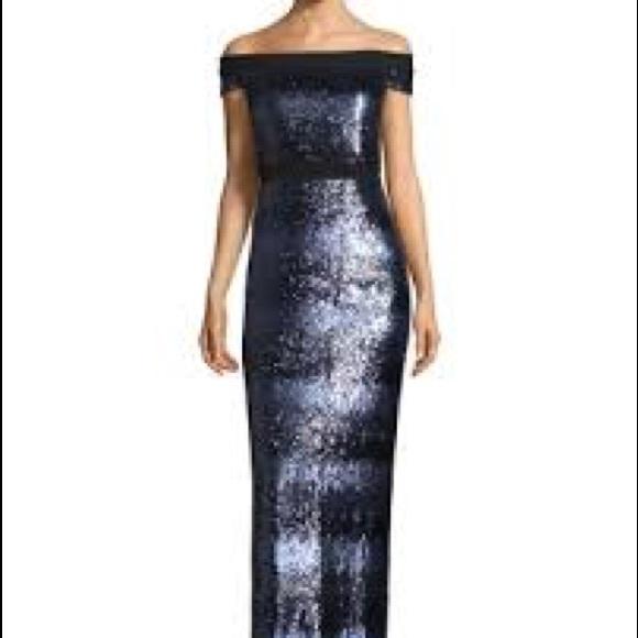 Carmen Marc Valvo Dresses | Gown Off The Shoulder Nwt | Poshmark